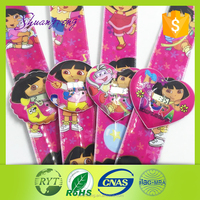 PVC cartoon kids slap bands/ watch pvc waterproof with cute design