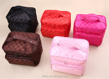 Wholesale Trendy recycled polyester ladies cosmetic hand bag with free sample