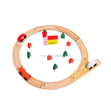 25pcs Wood Circular Orbit Toy wooden train toys