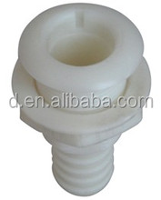 "STRAIGHT 3/4"" THRU HULL FITTING WHITE ACETAL PLASTIC FOR BOATS WATERCRAFT RV's CARAVANS MOTORHOMES"