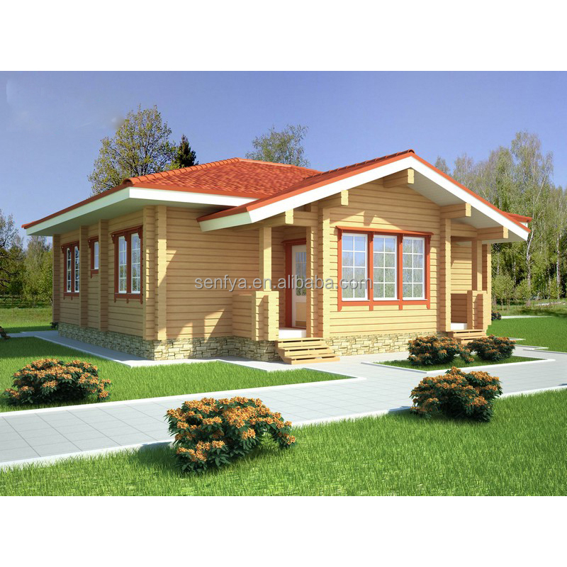 Modern design timber frame home factory of low cost prefabricated wood house with good quality