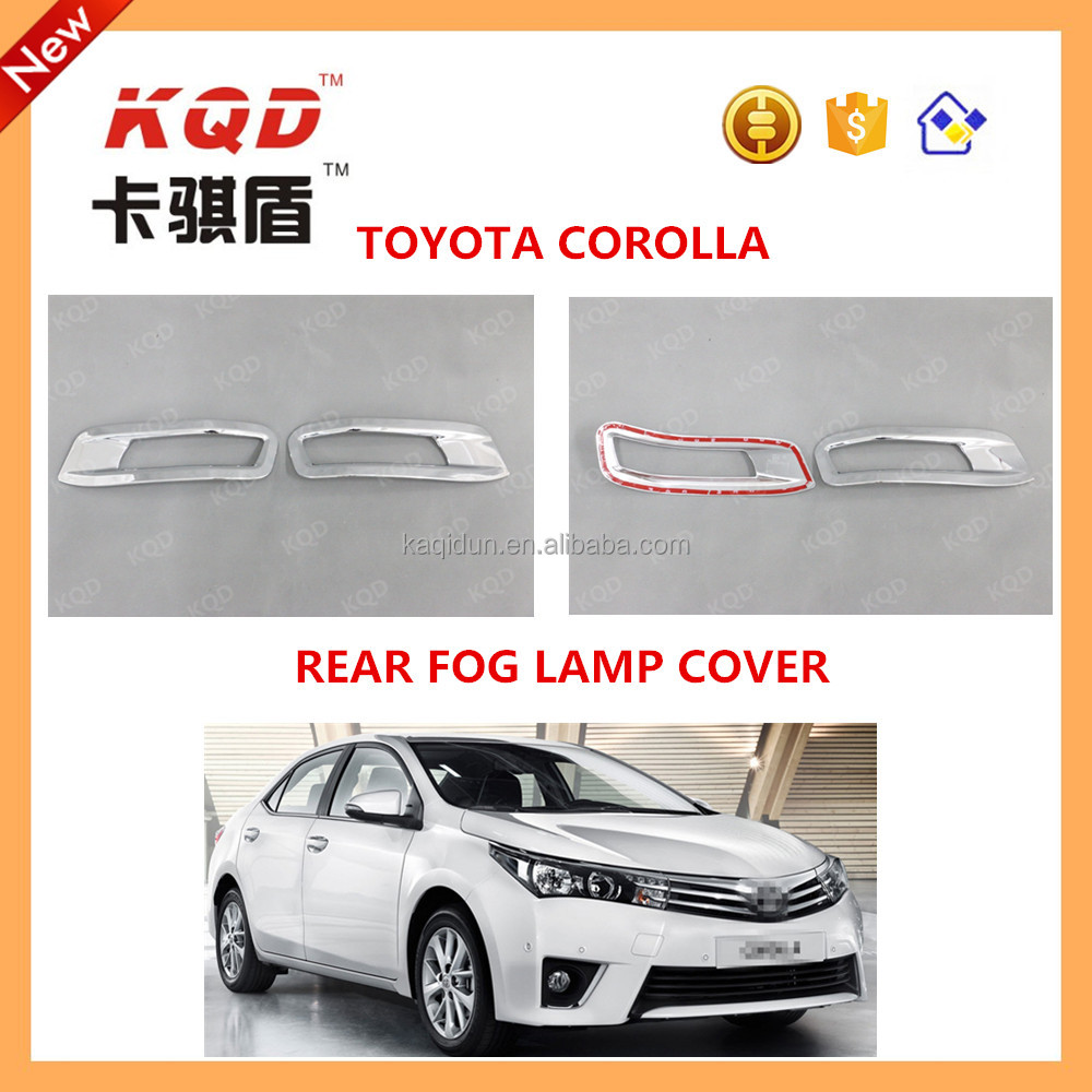 abs plastic chrome rear fog light cover for toyot corolla 2014~new rear fog lamp for toyot corolla toyot corolla parts
