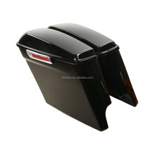 "5"" Extended Stretched Saddlebags With Keys For FLHTCU Road King 2014-2018"