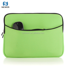 3mm Neoprene Soft Laptop Sleeve Bag Notebook Case Bag with Extra Zipper Compartment for Small Accessories