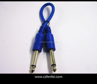 Xlr bright blue Cable 6.35 To 6.35 Cable in blue color