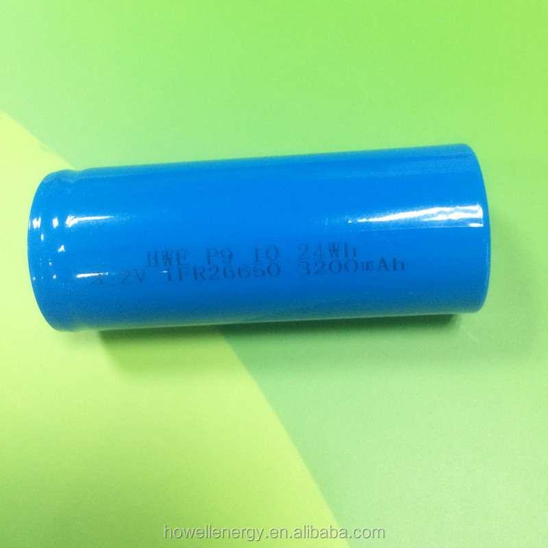 UL IEC62133 Approved 3.2v IFR26650 3200mah Lifepo4 battery cell