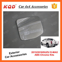 car exterior pick up accessories fuel tank gas tank oil tank cover chromed for dmax 2012 2015 2016