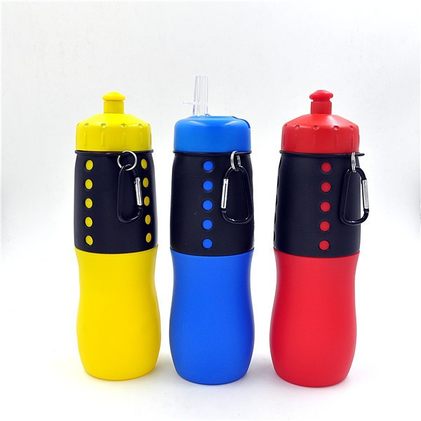 Portable Unique Empty Silicone Travel Water Bottle