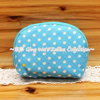 Hong Kong Gifts & Premium Fair Fu-ka Blue Polka dot Shell Mini Bag