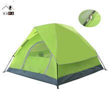 Wholesale 3-4 person outdoor automatic instant camping tent with fiberglass frame