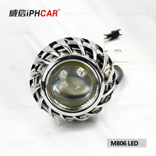 IPHCAR Angel Eyes Bixenon Motorcycle Headlight 2inch Mini Led Bi-xenon Projector Lens
