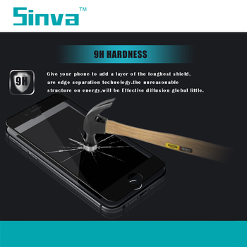 Sinva factory bubble free Gold 3D Curved 9H Full Covered Tempered Glass For Samsung S6 Edge Screen Protector