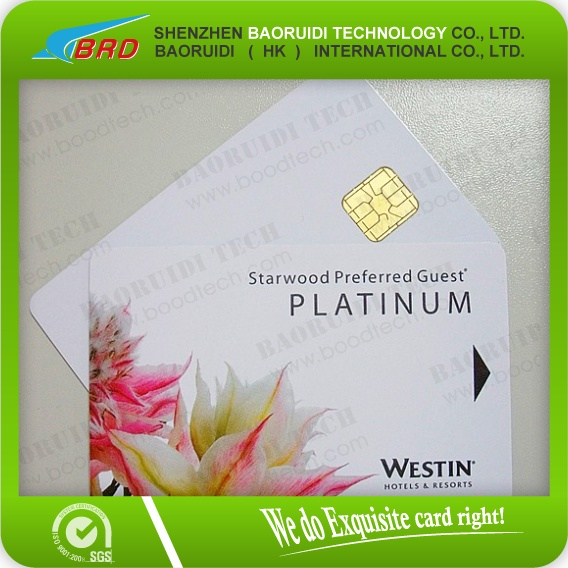 Hot selling credit card size chip card