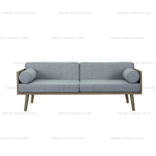 Classic Style Home Used Oak+Fabric Wood Sofa Furniture Pictures