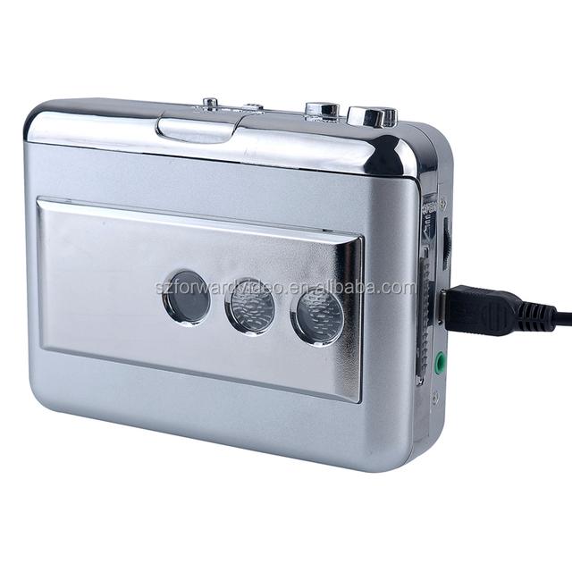ezcap218B USB Audio Cassette Tape Converter to MP3 CD Player PC cassette player with auto reverse