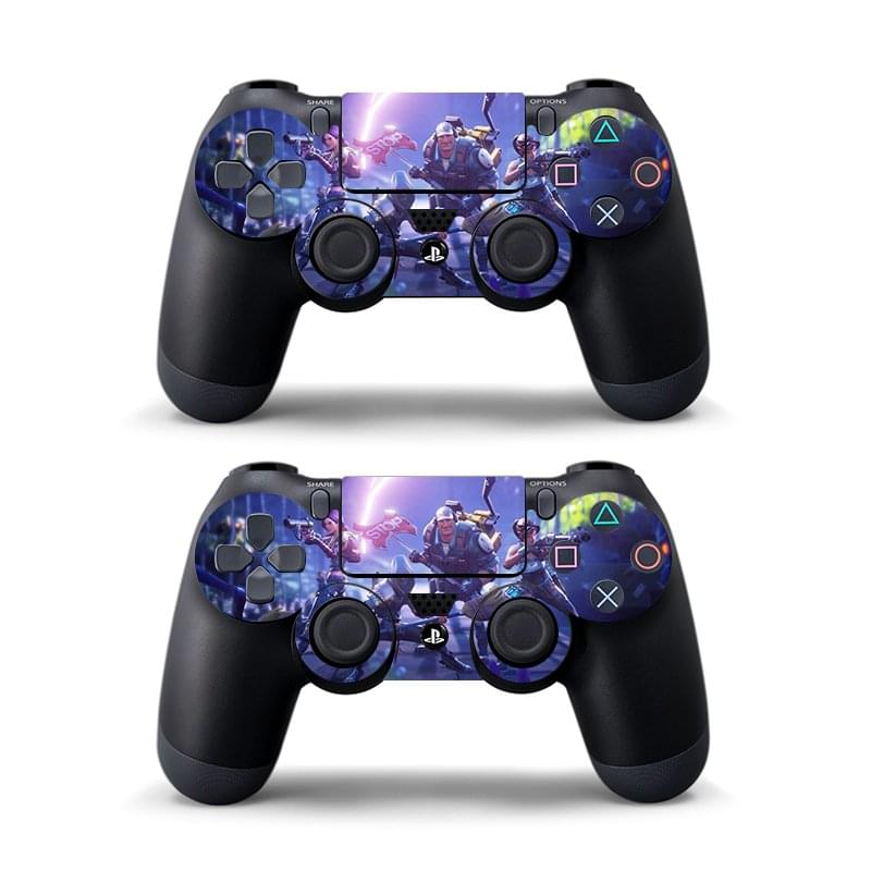 Data Frog 2 Pcs Sticker For Sony PlayStation 4 PS4 Game Controller Skin Stickers For PS4 Slim