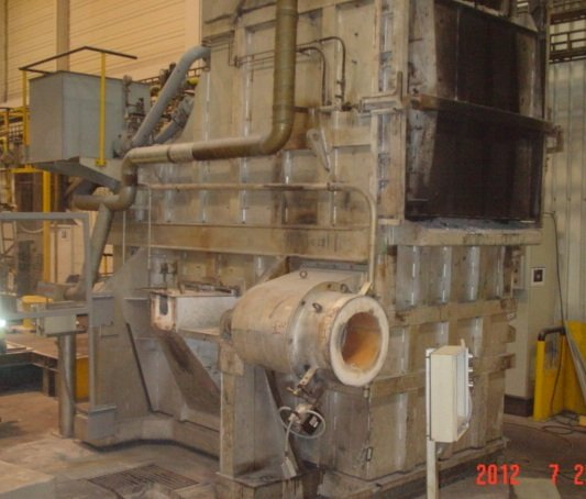 aluminum holding and melting furnace