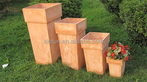 Garden use smooth flower pots