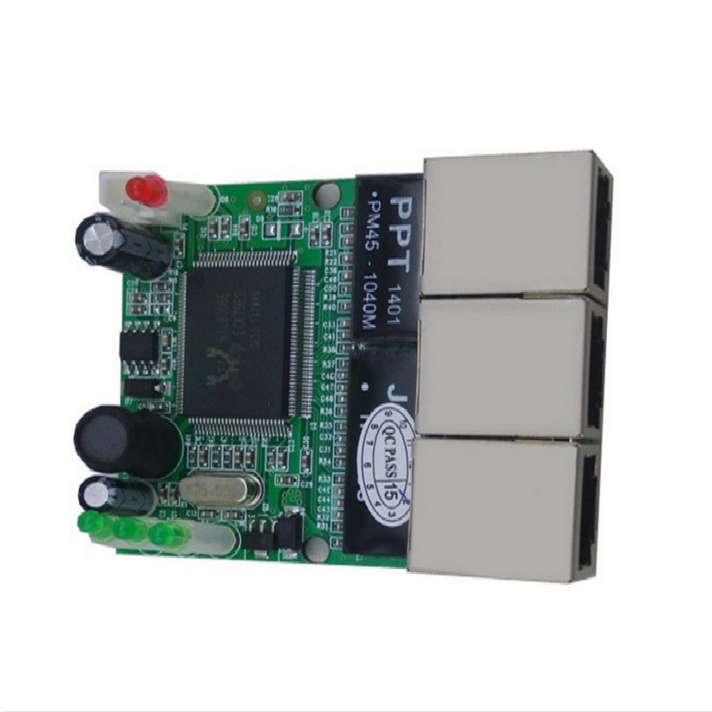 mini 3 port 12v ethernet switch module