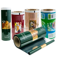 Plastic custom printed laminated roll film food packaging with aluminum foil