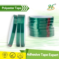 Heat resistant silicone adhesive coated self adhesive polyester film