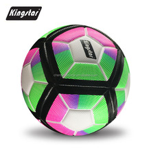 OEM manufacture leather pvc material training football soccer ball