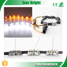 2015 new light led car light flexible drl white/Amber Switchback Dual Color 12V daytime running light led turn signal/drl