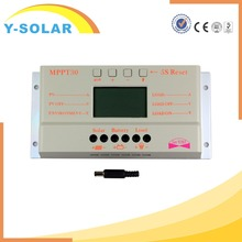SUNYOBA M30 MPPT 30A Solar Charge Controller 5V USB Charger 12V 24V LCD Charger Controller
