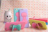 TPU case for iPhone 5/6/6 plus with cute bowknot holder