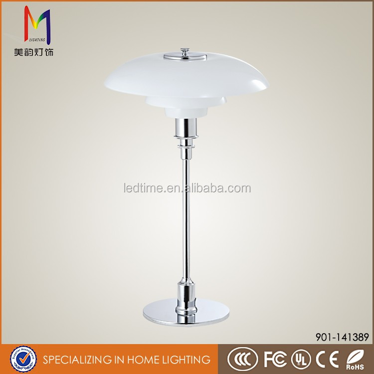 classic modern fancy glass hotel restaurant study cordless table led lamp