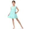 baby girls aqua with gold polk dot spring summer dress,party frock for baby girls