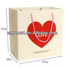 Heart Pattern Valentines Day Gift Paper Bag Shopping Bag