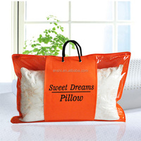 Transparent bed sheet blanket pillow packaging storage plastic pvc zipper quilt bag