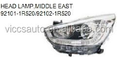 OEM 92101-1R520/92102-1R520 For hyundai Accent 2013-2014 Middle East Auto Car Head Lamp Head light