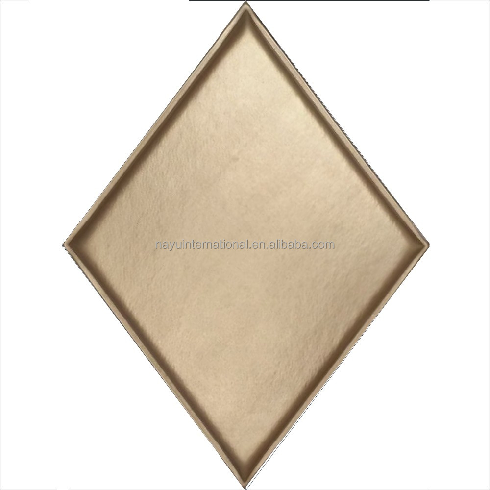 Gold colored pu leather faux tile wall panel exterior wall tiles designs india