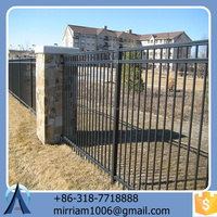 best sale new design practical high quality hot dip galvanized powder coated cheap steel fence with post