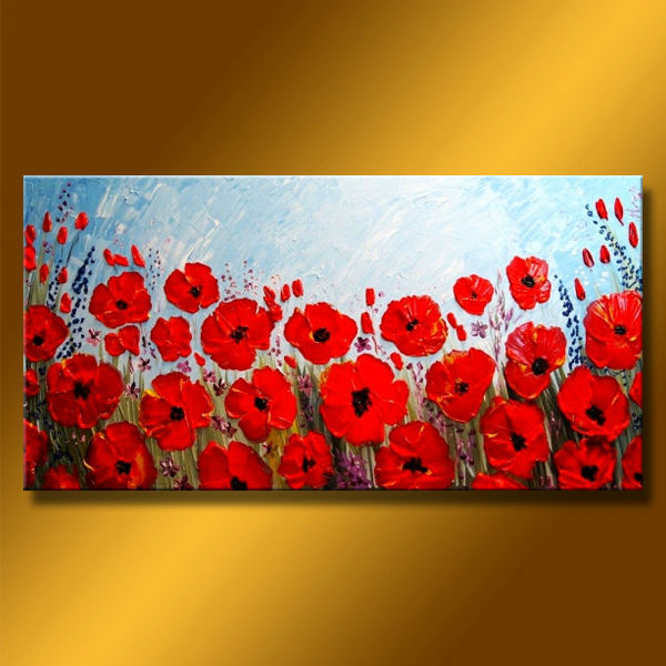 Newest Handmade Beautiful Oil Painting Pictures Of Flowers For Decor