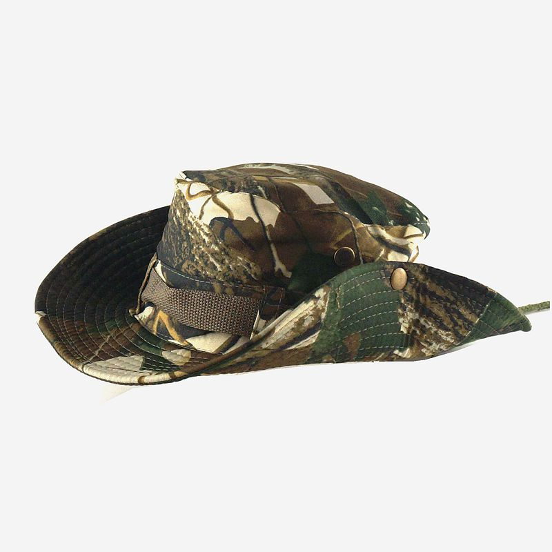 High Quality Cheap Custom Boonie Cap Classic Military Camo Bucket Hat With String