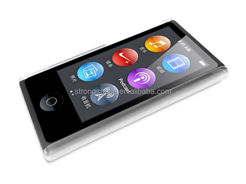clear transparent pc case for ipod nano 7