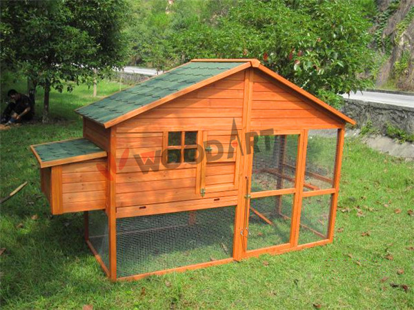 Outdoor large high quality wooden chicken breeding coop cage