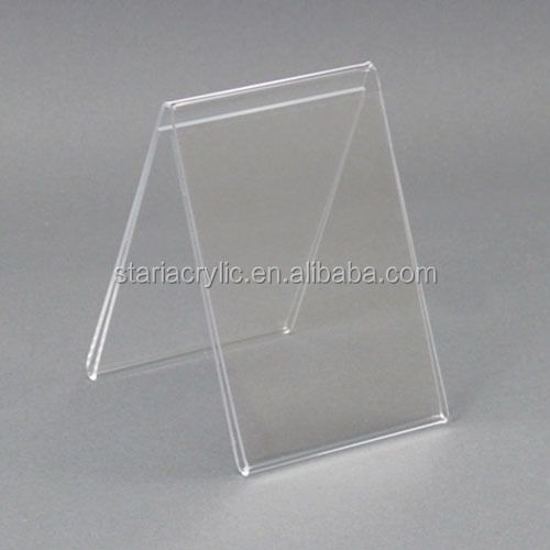 Marketing Holders Sign Holder 4 X 6 Side Load Two Sided Table Tent Clear Acrylic Display