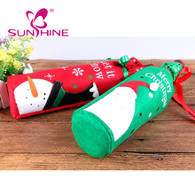 Wholesale Holiday Personalized Wine Bottle Gift Bags