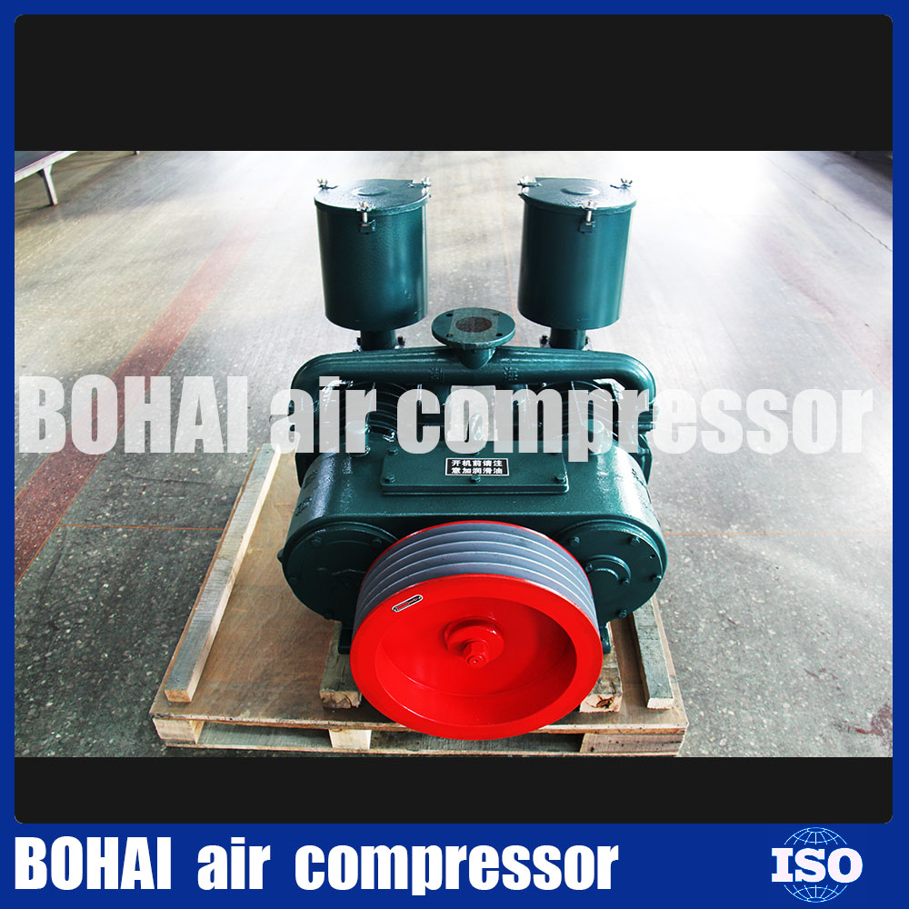 Dry bulk cement powder tanker truck trailer with Bohai air compressor