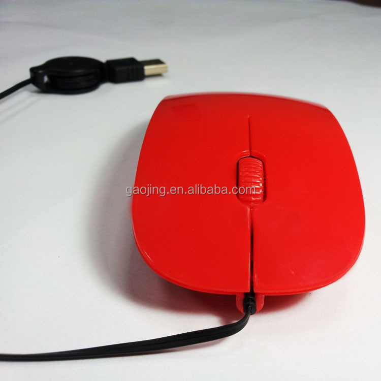 hot-selling retractable 2.4Ghz wired optical mouse Recommended by shopkeeper
