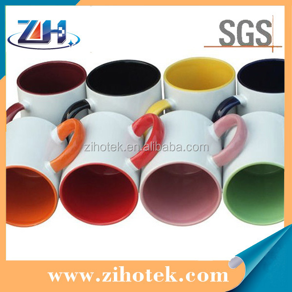 Eco-friend sublimation inside colourful mugs with GSG approved Anti-Dishwasher