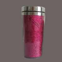 travel mug with Glitter Paper Insert for Promotion