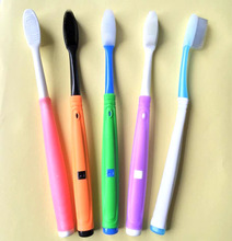 Adult age group soft nano meter bristle type replace head toothbrush with changeable heads