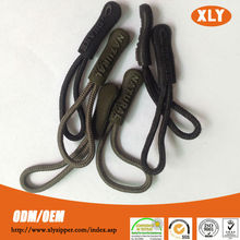 customized 5# rope pvc rubber zipper puller for out door