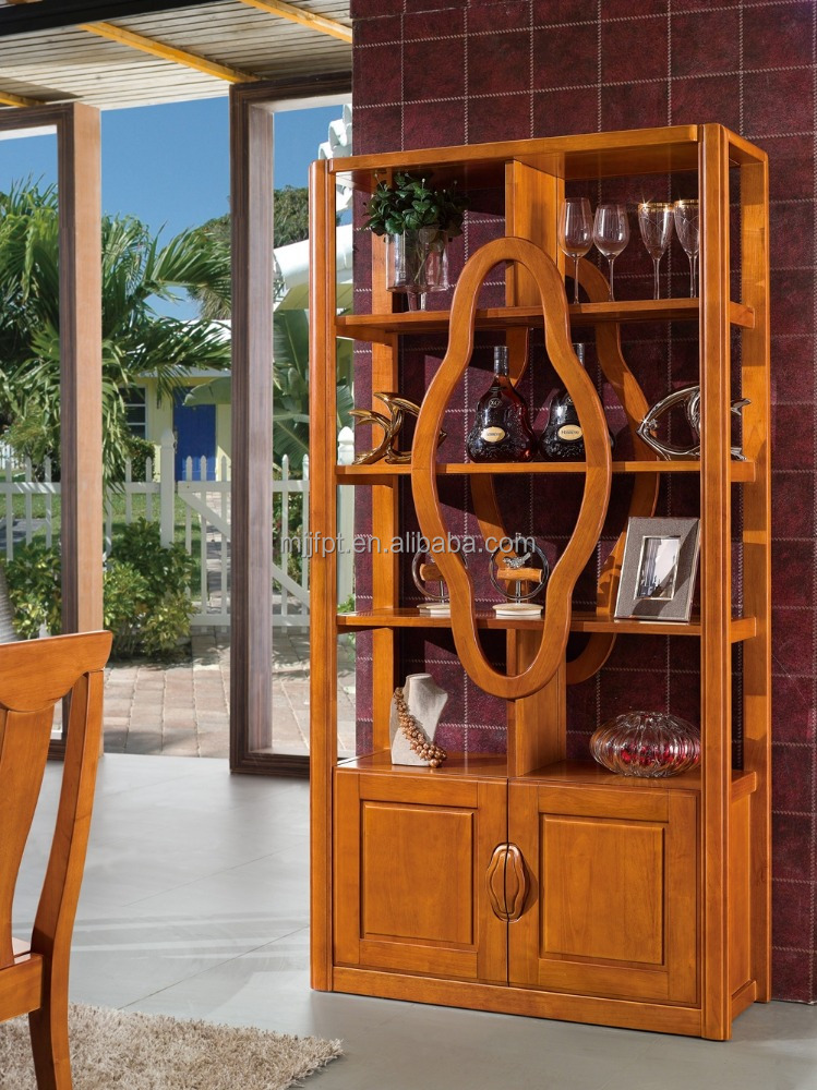 Modern solid wooden furniture living room wine display cabinet divider 8360