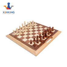 Multi-function games wooden chess backgommon dice box 3 In 1 multi game set